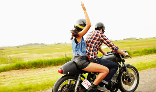 Two People On Motorcycle- Thumbnail