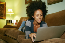Woman Learning About Unsecured Loans