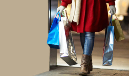Person Carrying Shopping Bags- Thumbnail