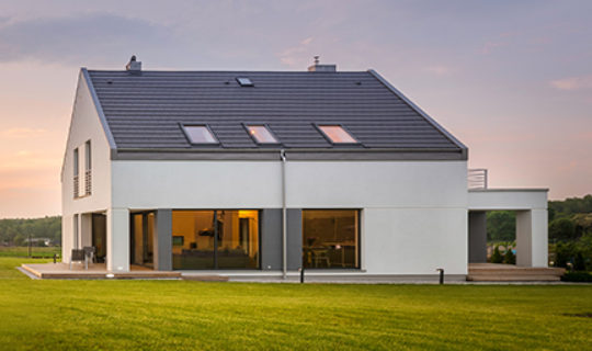 energy efficient home in the countryside